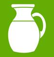 jug of milk icon green vector image vector image