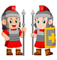 legionary soldier of the roman empire vector image vector image