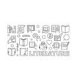 literature outline vector image vector image