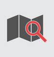 location with magnifier icon flat vector image vector image