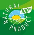 logo ecological landscape for natural products vector image vector image