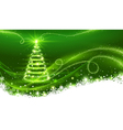Magic Christmas tree vector image vector image