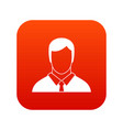 manager icon digital red vector image