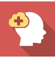 Medical Idea Flat Square Icon with Long Shadow vector image