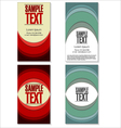 Modern colorful Business card set vector image