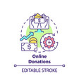 online donations concept icon vector image vector image