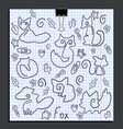 paper clips in the form of a fox vector image