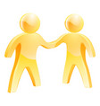 people shaking hands concept vector image
