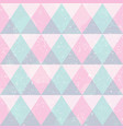 pink triangles seamless pattern with grunge effect vector image vector image