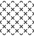 seamless abstract geometric pattern with crosses vector image