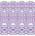 seamless arabic patterns for border vector image