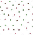 seamless pattern with coloured stars on white vector image vector image