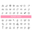 set line icons in flat design chocolate vector image vector image