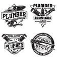 set of vintage emblem design vector image vector image