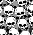 Skull texture Skeleton head lot Background of vector image