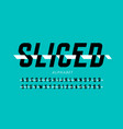 sliced style font alphabet letters and numbers vector image