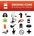 smoking icons vector image