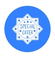 Special offer icon in black style isolated on vector image vector image