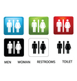 toilet signs vector image vector image
