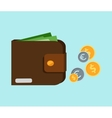 Wallet with Card and Cash vector image vector image