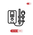 water heater icon vector image vector image