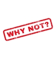 Why Not Question Rubber Stamp vector image vector image