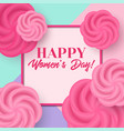 womens day greeting card with flowers vector image vector image