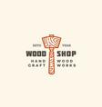 wood shop logo vector image