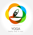 yoga health body soul vector image vector image