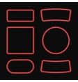 set of neon frame Neon square and circle vector image