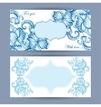 Greeting card with sketchy ornament vector image