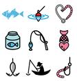 logo icons fishing vector image