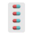 Pills blister package isolated vector image