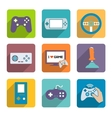 Video Games Controller Icons Set vector image