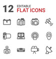 12 electronics icons vector image vector image