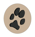3D dogs paw vector image
