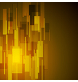 Abstract dark yellow tech background vector image vector image