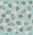 abstract floral seamless pattern with leaves