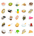 bad food icons set isometric style vector image vector image