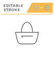 bag editable stroke line icon vector image
