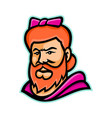 bearded lady mascot vector image vector image