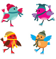 Birds on ice skates vector | Price: 1 Credit (USD $1)