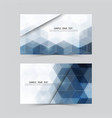 blue hexagonabstract backgroundset of banners vector image