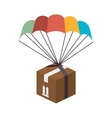 box parachute delivery vector image