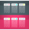 business process steps infographics vector image vector image