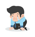 businessman crying sad cartoon vector image vector image