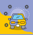 car service maintenance painting work vector image vector image