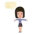 cartoon woman giving thumbs up symbol with speech vector image