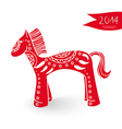Chinese New Year of the Horse cartoon vector image