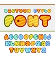 Colorful cartoon font Cute alphabet Baby